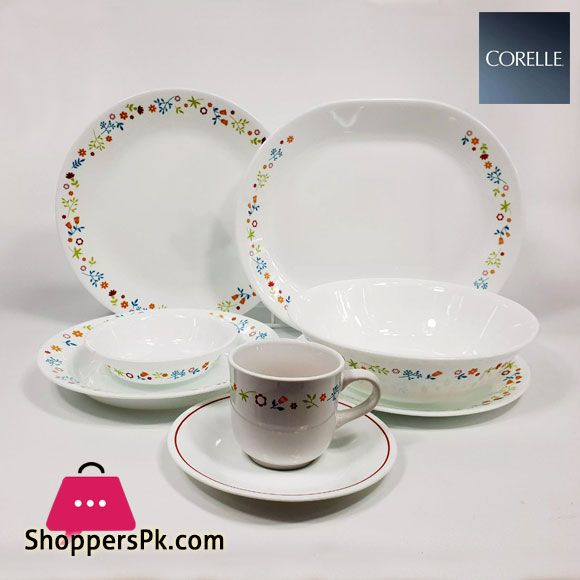 Buy Corelle Classic Dinnerware Ditsy Flora 76 Pc Set At Best Price In Pakistan In 2020 Classic Dinnerware Dinnerware Corelle