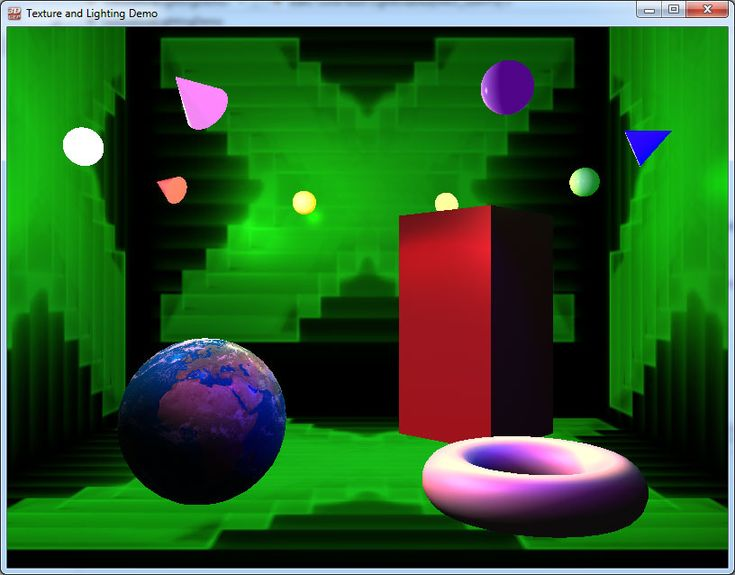 DirectX Lighting Demo Screenshot