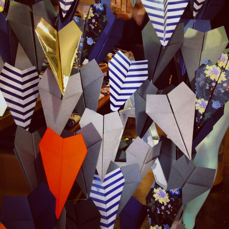 Paper Plane installation I designed for Browns Fashion Week Window Display http://www.scarlet-winter.com/browns-lwfss14.html