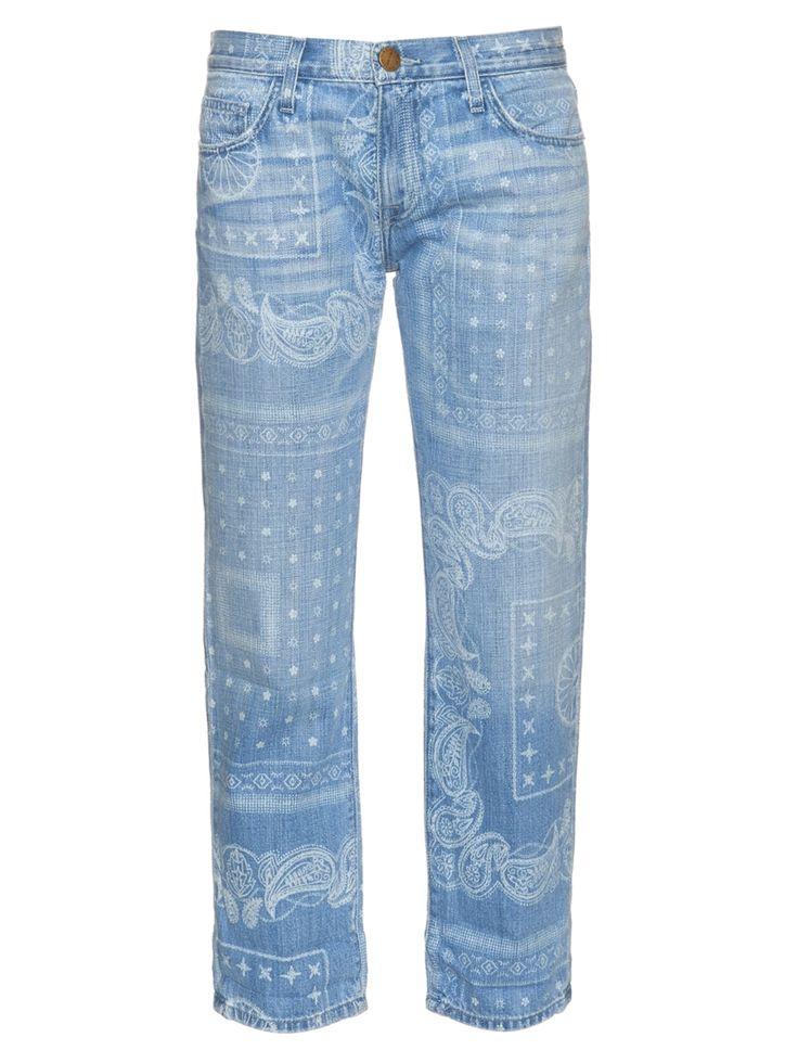 The Boyfriend bandana-print low-rise jeans | Current/Elliott | MATCHESFASHION.COM UK