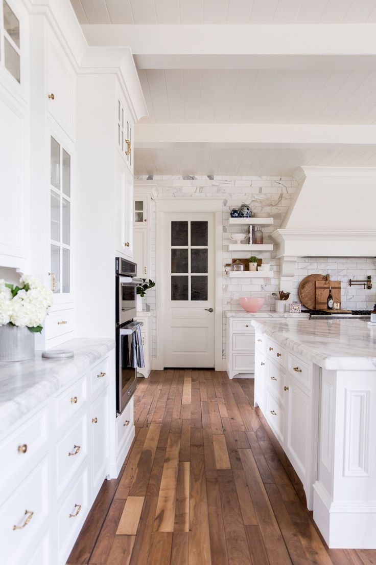 White Kitchen Marble