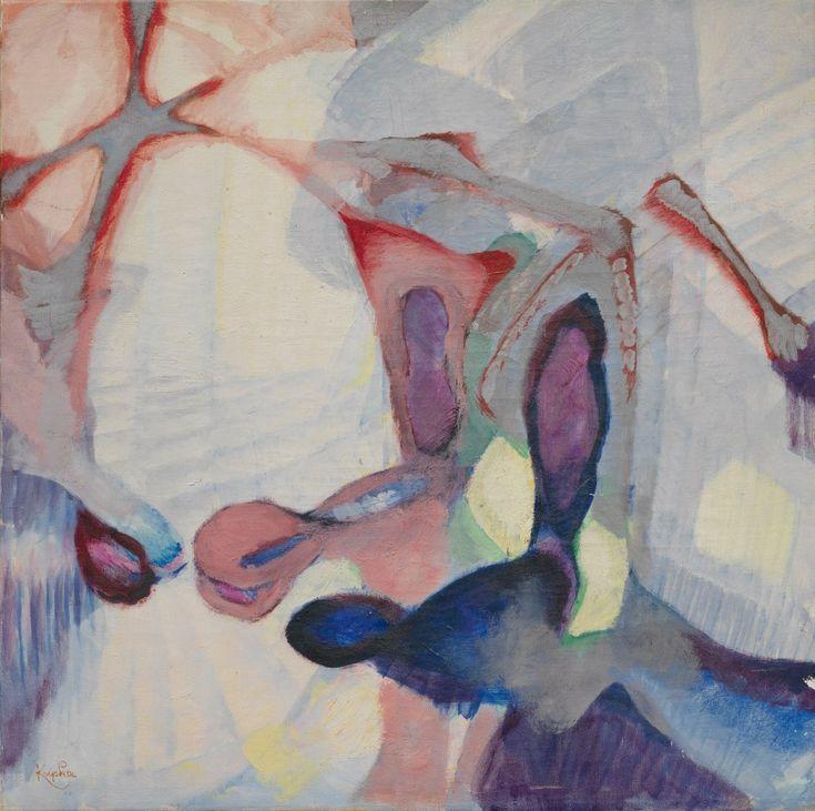 František Kupka, One Vision, 1946. Oil on canvas, 27 1/8 x 26 3/4 inches (69 x 68 cm)