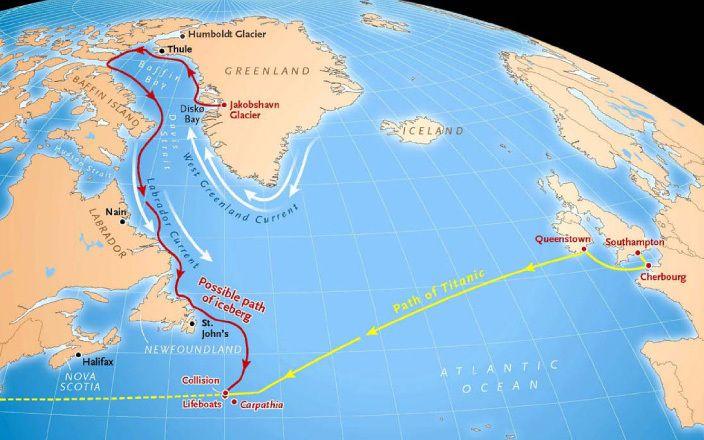 Titanic route
