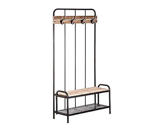 Mueble recibidor en metal y madera de pino proyecto - Mueble perchero recibidor ...