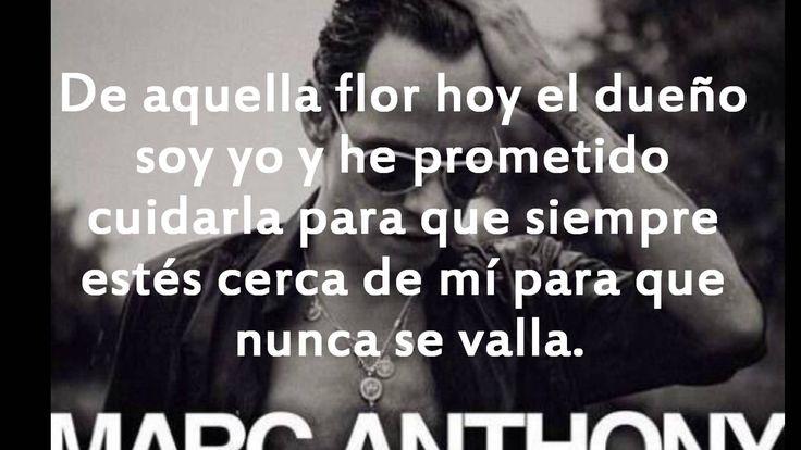 Marc anthony Flor palida letra