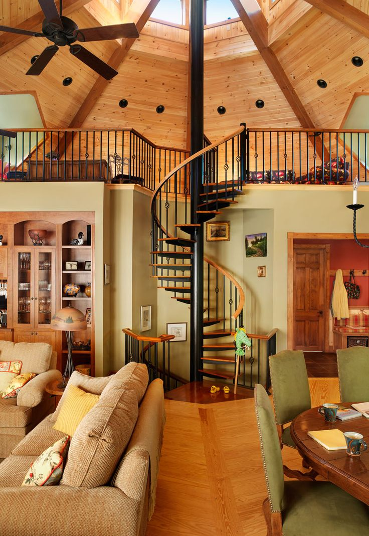 Elegant Stairway U0026 Loft Design Welcome To Ondine An Amazing Octagonal House!