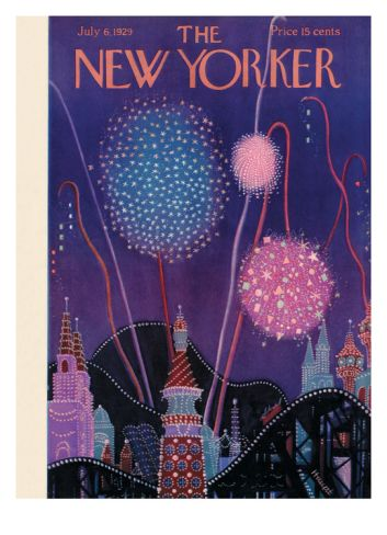 The New Yorker Cover - July 6, 1929 by Theodore G. Haupt. Print from Art.com, $157.00