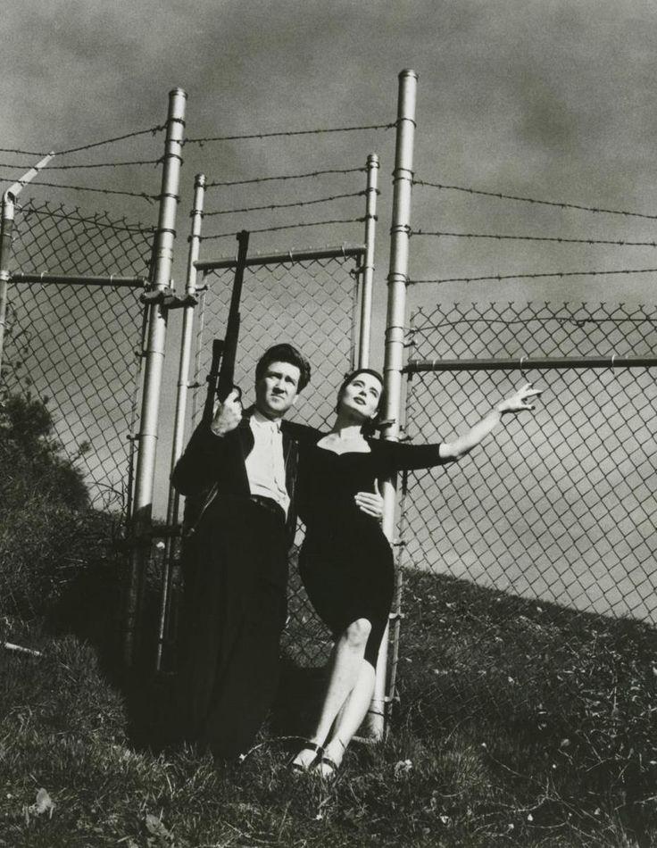 Helmut Newton, David Lynch and Isabella Rossellini, 1988.