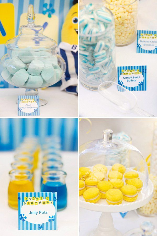 yellow and blue kids party