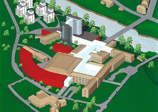 Ängelholms sjukhus. Stadsplanering och generalplan för Hälsostaden   Lloyd's Arkitektkontor