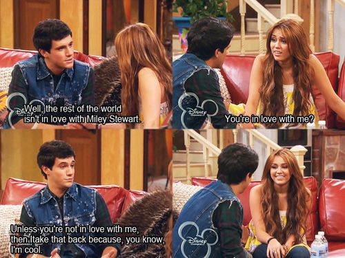 Hannah Montana..my childhood is so over.