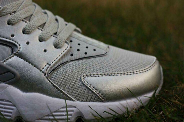 Nike Air Huarache Run Hombre Zapato Bajo Precio Plata