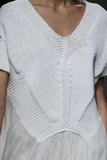 White cotton crochet detail Sita Murt SS2014. Catalonia