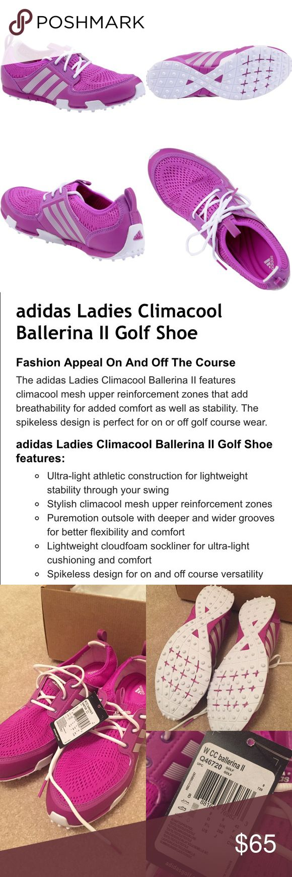 Adidas Ladies Climacool Ballerina II Golf Shoe pink & white. NWT! never been worn other than trying on (run smaller on my foot). Adidas Shoes