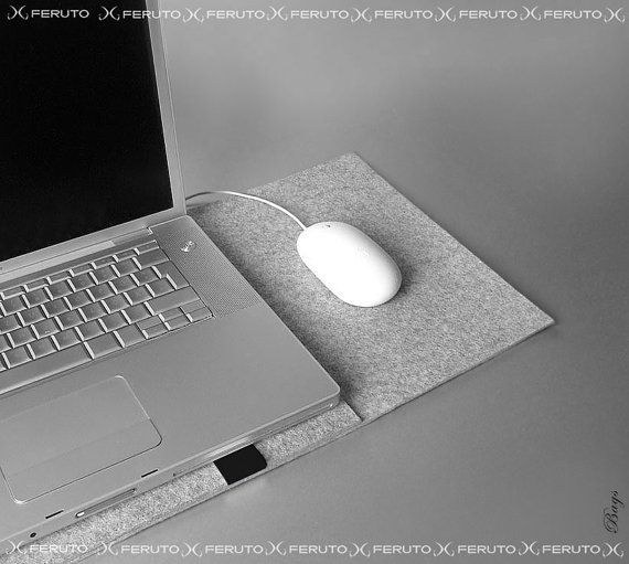 15 Macbook Pro feutre manchon 13 Mac Book Pro manche par FERUTOBags