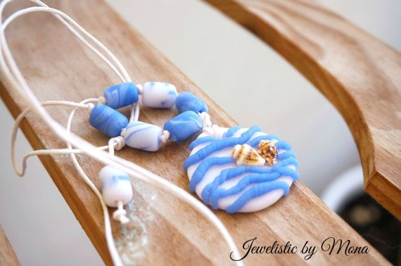 Unique summer boho adjustable real shells and by JewelisticbyMona