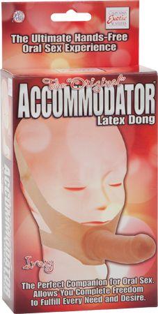 Dongs > Realistic > The Original Accommodator Latex Dong (Flesh) - www.bunnyleisure.com