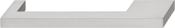 Nouveau Handle zinc brushed nickel center to center 128/160mm
