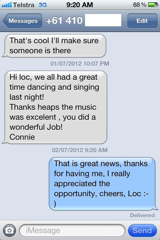 """""""Hi loc, we all had a great time dancing and singing last night! Thanks heaps the music was excelent , you did a wonderful job! Connie.""""    - Connie, Birthday Girl.    Adelaide Birthday DJ    Music On Demand For Memorable Moments Or Your Money Back Guaranteed!    http://www.adelaidedj.com/"""