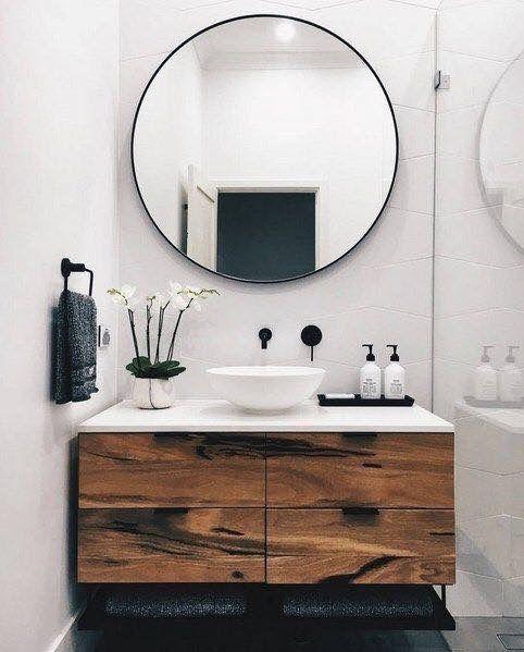 Midcentury modern inspired bathroom