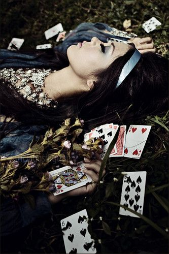 I love the way you shuffle the cards/But I'm tired of this game./Our love was written in the stars/But I think they misspelled your name.