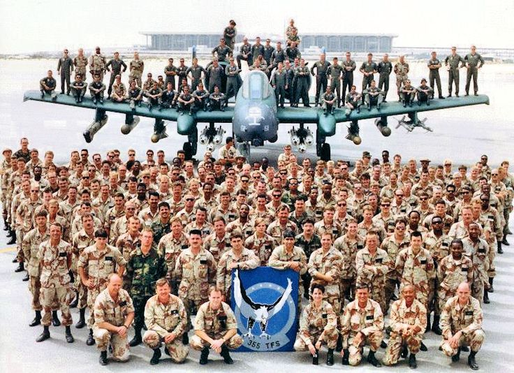Group photo of the 355th Tactical Fighter Squadron