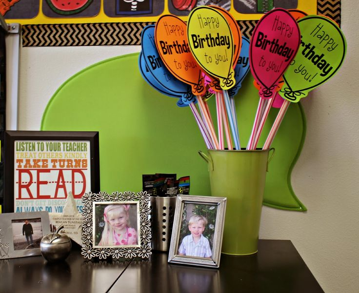 Have bday celebrations ready at the beginning of the year and keep near the calendar--Classroom Tour 2014-2015