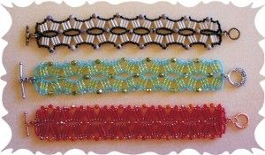 Rollin Wave Bugle Bead Bracelet: Bracelets Ideas, Bracelets Tutorials, Beads Patterns Com, Beads Beads, Beads Bracelets, Beads Projects, Beadweav Bracelets, Bracelets Image, Beads Weaving