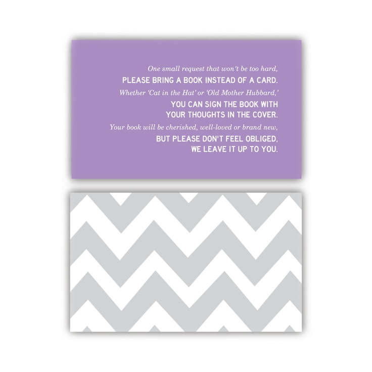 """Bring a Book Instead of a Card"" printable invitation enclosure - Customizable. $5.00, via Etsy.: Earnhardt Baby, Baby Krueger, Book, Card, Baby Keen, Baby Schtuff, Baby Girls, Baby Showers Rev, Baby Shower"