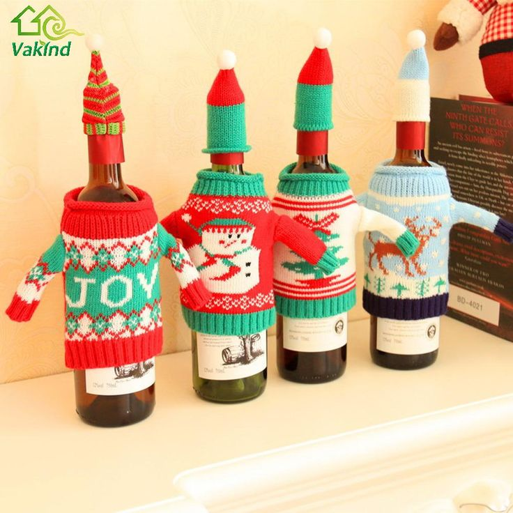 お祝いのぬいぐるみかわいい雪だるまワインボトルカバーバッグ宴会クリスマスディナーパーティークリスマステーブルデコレーション新しい年用品