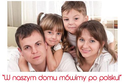 """We support the campaign """"We speak Polish at home!"""" 