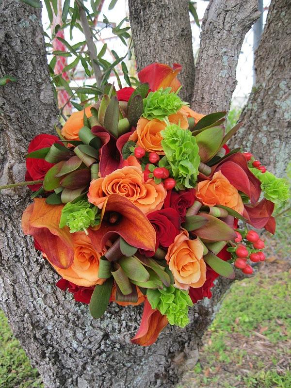Nos encanta la combinación de colores!! ramos de novia Tampa -