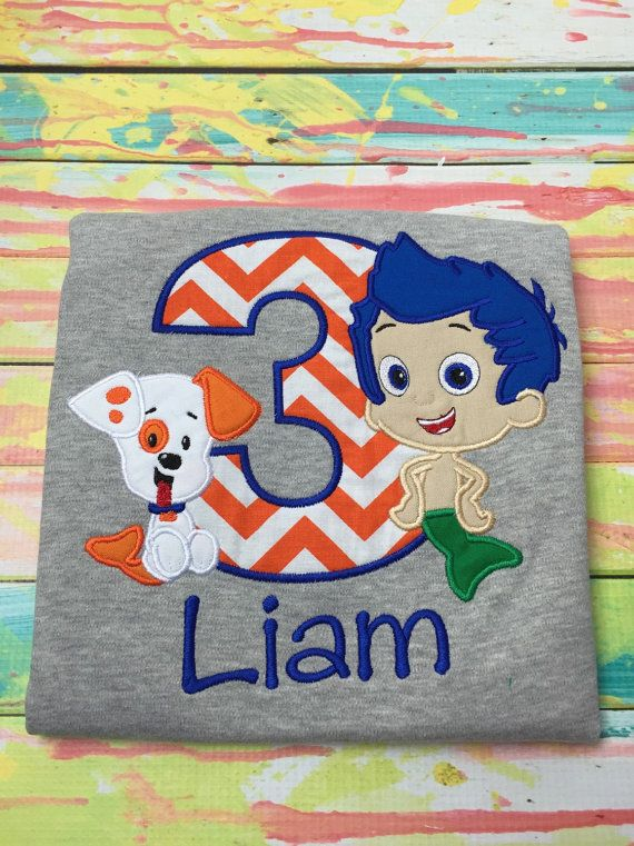 Bubble Guppies Birthday Shirt by SWDdesigns on Etsy