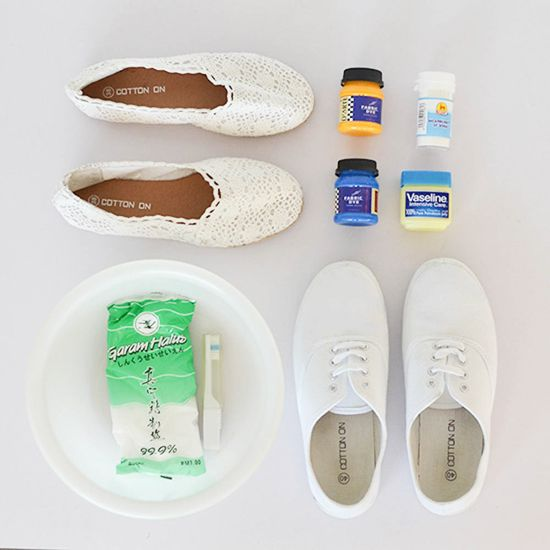 How To Update Old Canvas Shoes With A Dip Dye Treatment | tongue in chic