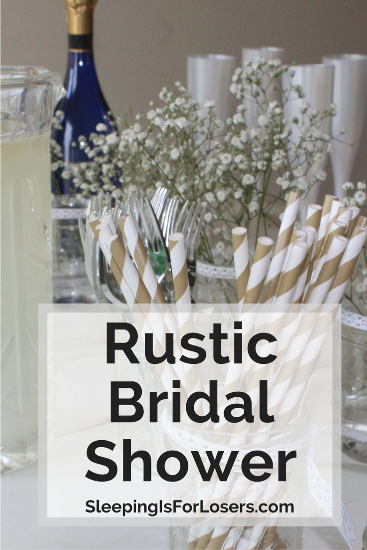Throw the perfect rustic bridal shower with all the small details that will make the bride-to-be feel special. Lace, mason jars, baby's breath, lots of food and a fun selfie wall!