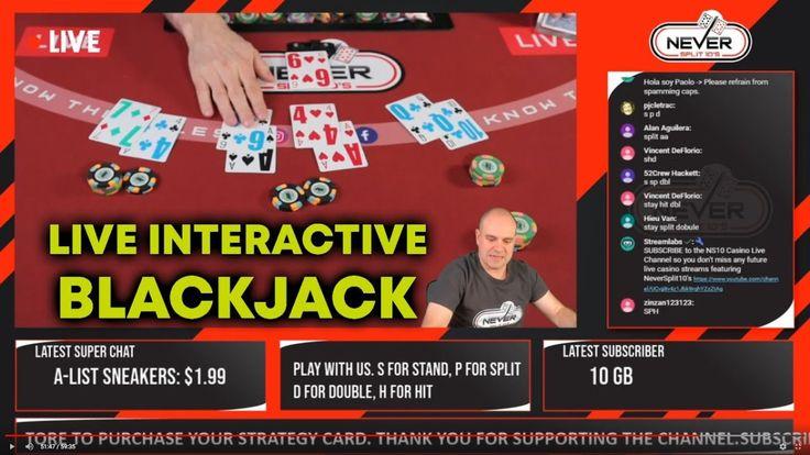 Live Interactive Blackjack I Deal, You Play Everyone