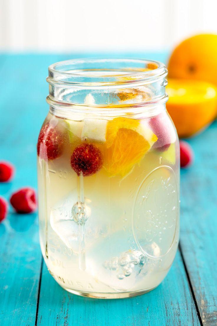 Sangria Lemonade INGREDIENTS: 1/2 g. lemonade 1 bottle Chardonnay or other white wine (750 ml) 2/3 c. light rum 1/2 c. raspberries 1 Orange, Sliced 1 Granny Smith apple, sliced