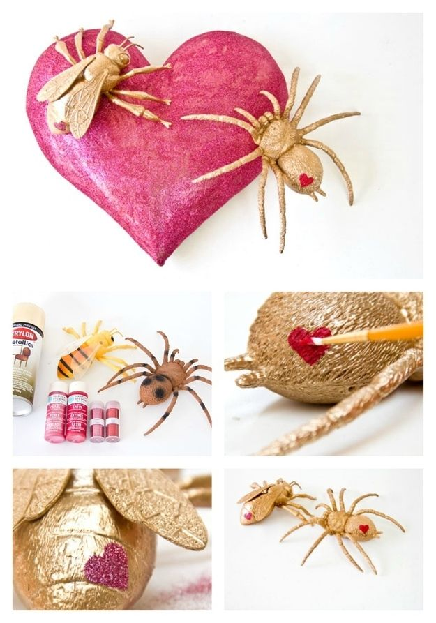 These golden love bugs are a fun and unexpected gift for a non-squeamy friend.