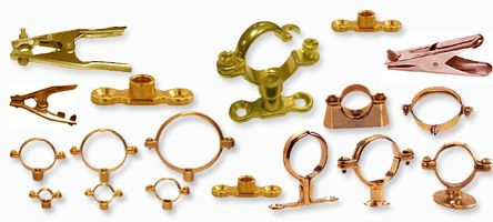 brass pipe clamps earth clamps #brasspipeclamps #earthclamps  We are engaged in offering a wide range of #EarthClamps, which we manufacture from high-grade raw material.The clamps are made from finest quality copper, brass or other metal. Our range of earth clamps is available in different models & varying specifications to match every client's individual requirements. Our complete range of Earth Clamps contains copper shunting.