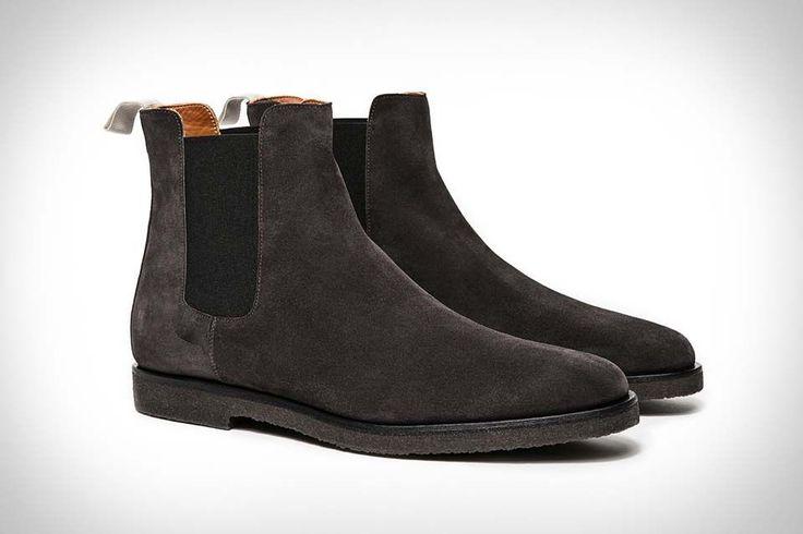 Handmade men Black color suede boot, Men black color crepe sole boot, Mens boot #Handmade #AnkleBoots