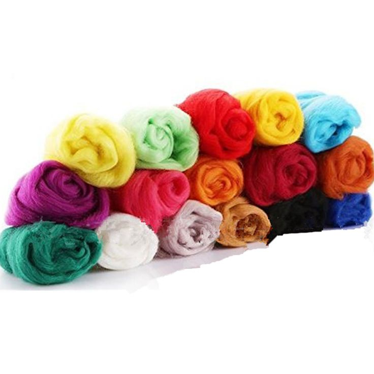 1 Set 36 Colors Fibre Wool Roving For Needle Felting Hand Spinning DIY Craft #Unbranded
