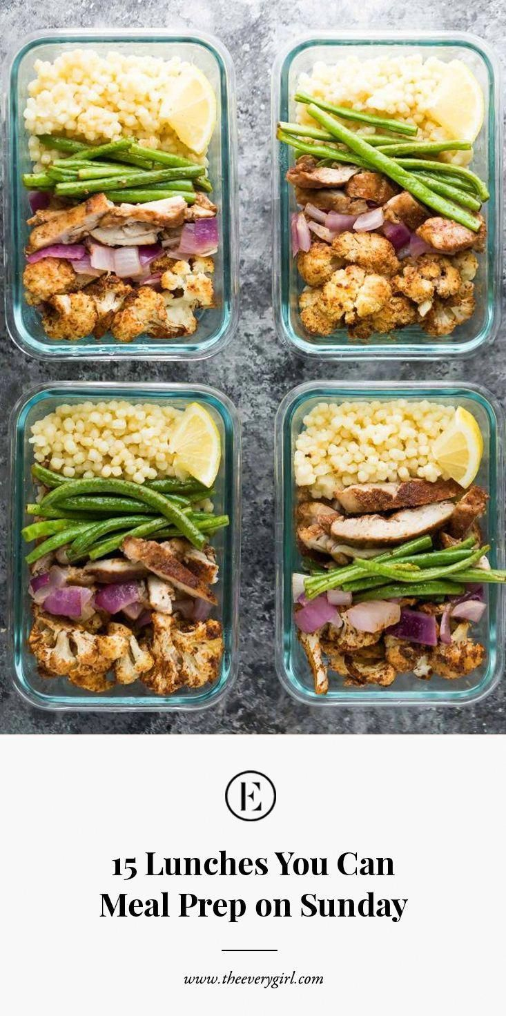 15 Lunches You Can Meal Prep On Sunday Meals Lunch Meal Prep