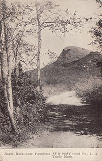 Eagle Rock, near Pasadena postcard