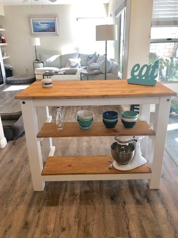 2 Half Shelves Kitchen Island With Seating For 23 Or 4 Etsy Interior Design Kitchen Kitchen Island With Seating Custom Kitchen Island