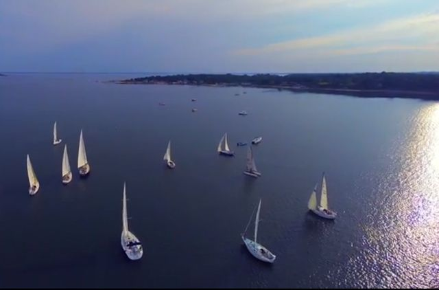 Video: A view of the sailboat races never seen before... You may have seen the sailboats racing around Robins Island on a Wednesday evening in the past. You've never seen them from this vantage point.