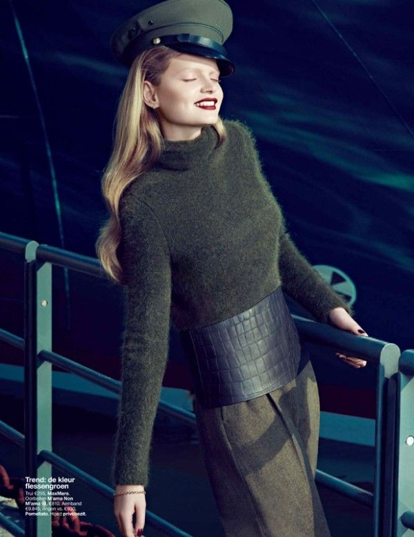 #fashion #editorial Nathalia Oliveira is Military Glam for Elegance Netherlands September 2012