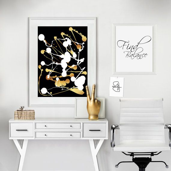 Black and gold, Abstract poster, Abstract print, Minimalist poster, Living room art, Contemporary art, Modern art print, Abstract geometric