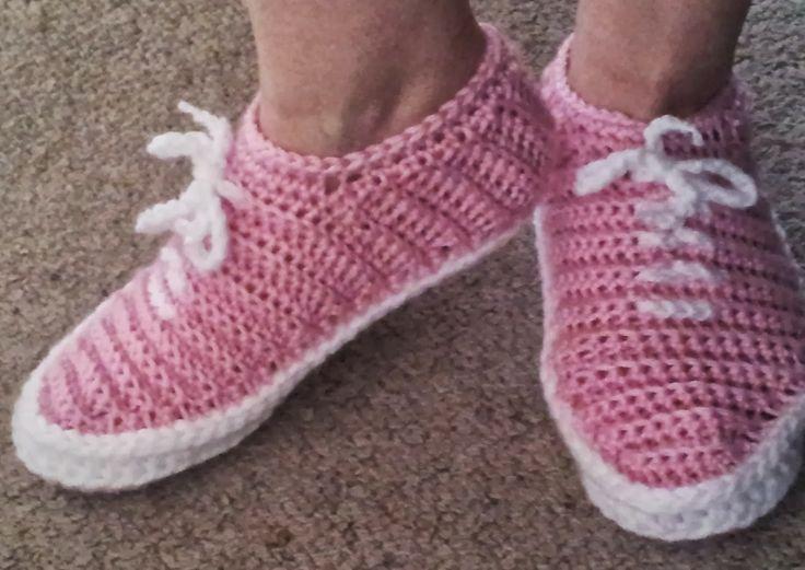 """Shush's Handmade Stuff: """"Vans"""" - Crochet Slippers - PDF Pattern"""