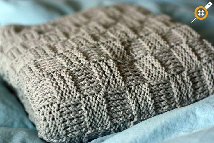 Sepet örgü modeli battaniye