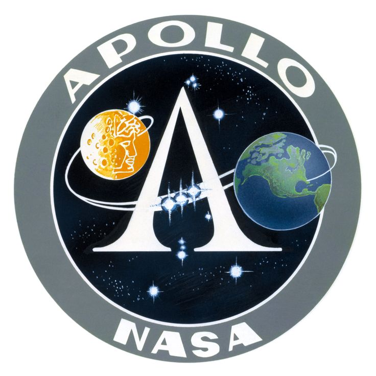 Apollo Missions...Insignia for the Apollo Program: a disk circumscribed by a band displaying the words Apollo